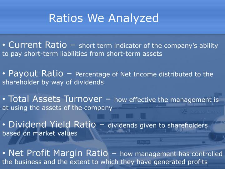 Ratios We Analyzed