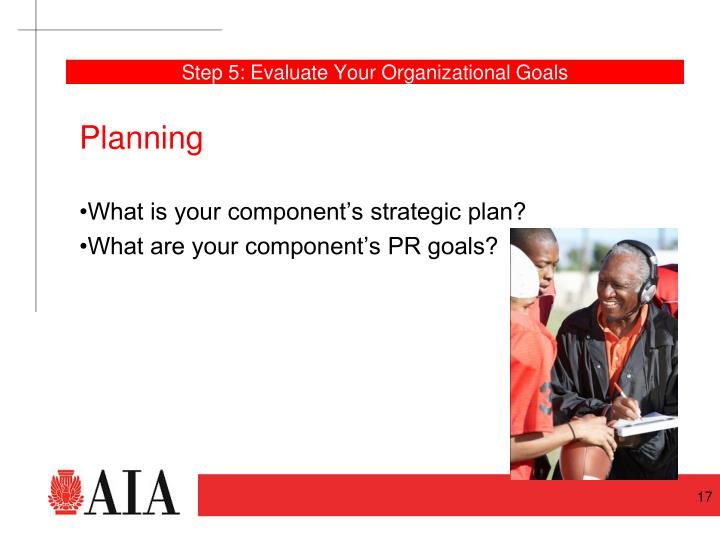 Step 5: Evaluate Your Organizational Goals
