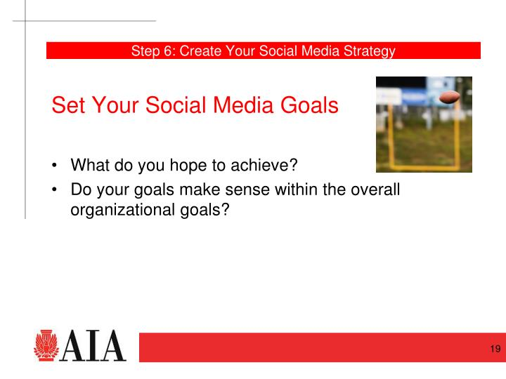 Step 6: Create Your Social Media Strategy