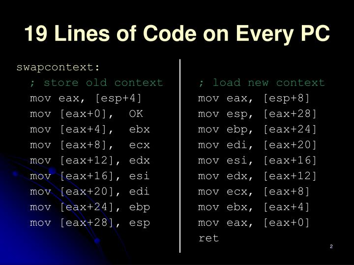 19 lines of code on every pc