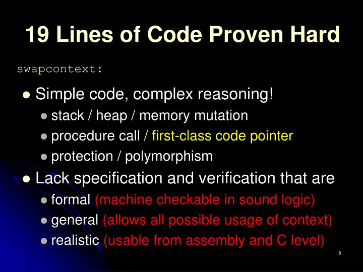 19 Lines of Code Proven Hard