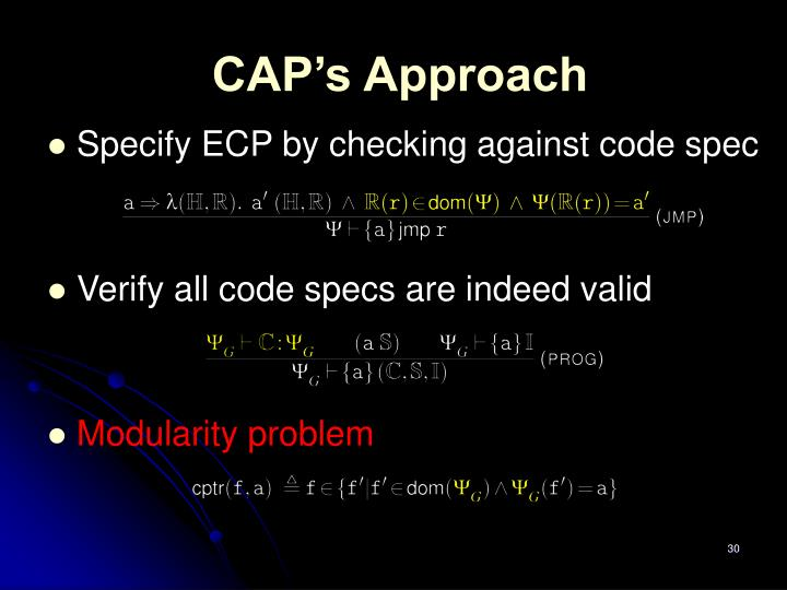 CAP's Approach