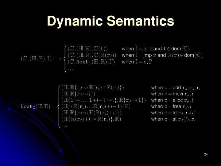 Dynamic Semantics