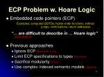 ecp problem w hoare logic