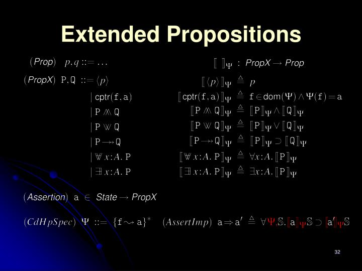 Extended Propositions