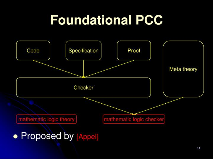 Foundational PCC