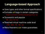 language based approach