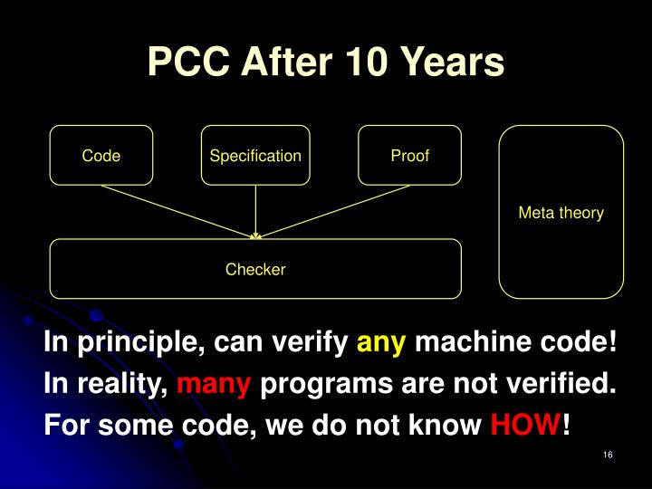 PCC After 10 Years