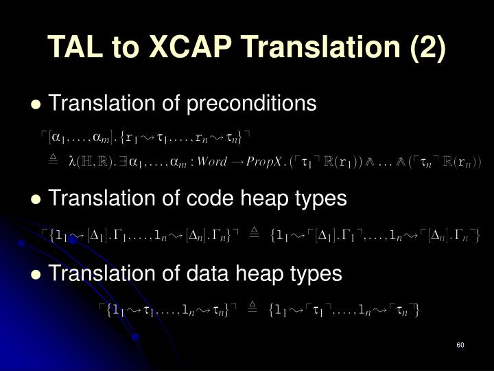 TAL to XCAP Translation (2)