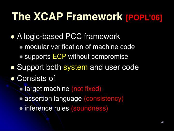 The XCAP Framework