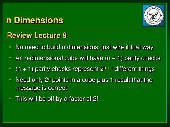 n Dimensions