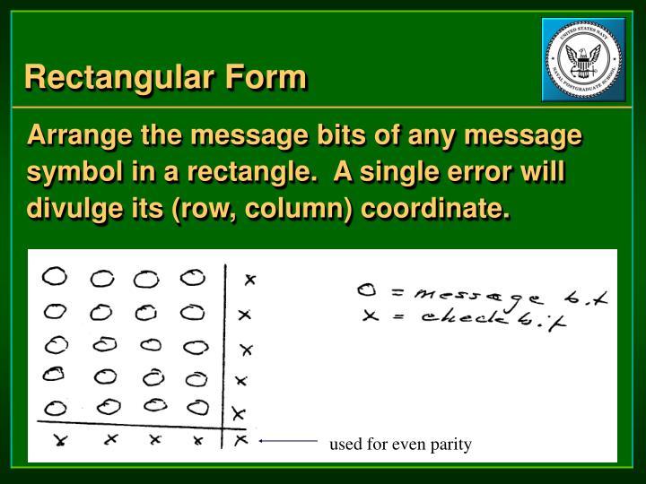 Rectangular Form