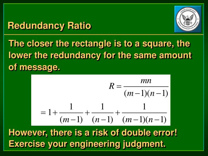 Redundancy Ratio