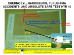 chernobyl harrisburg fukushima accidents and absolute safe test htr 10