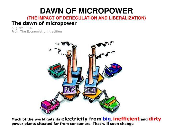 DAWN OF MICROPOWER