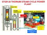 stgr 20 thorium steam cycle power plant