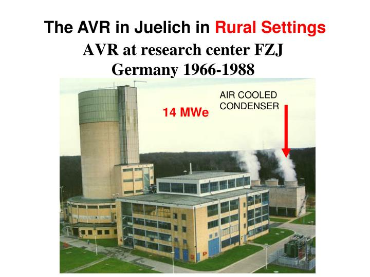 The AVR in Juelich in