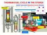 thorium fuel cycle in the stgr20
