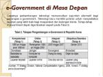 e government di masa depan
