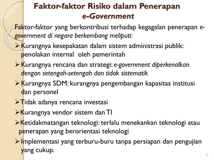 Faktor-faktor Risiko dalam Penerapan