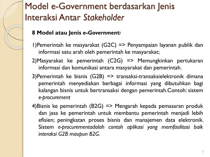 Model e-Government