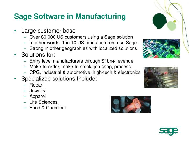 Sage Software in Manufacturing
