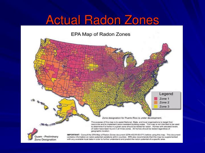 Actual Radon Zones