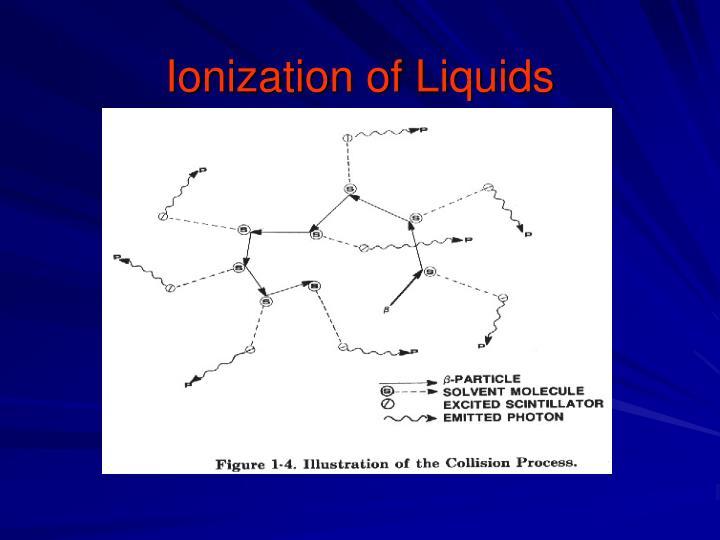 Ionization of Liquids
