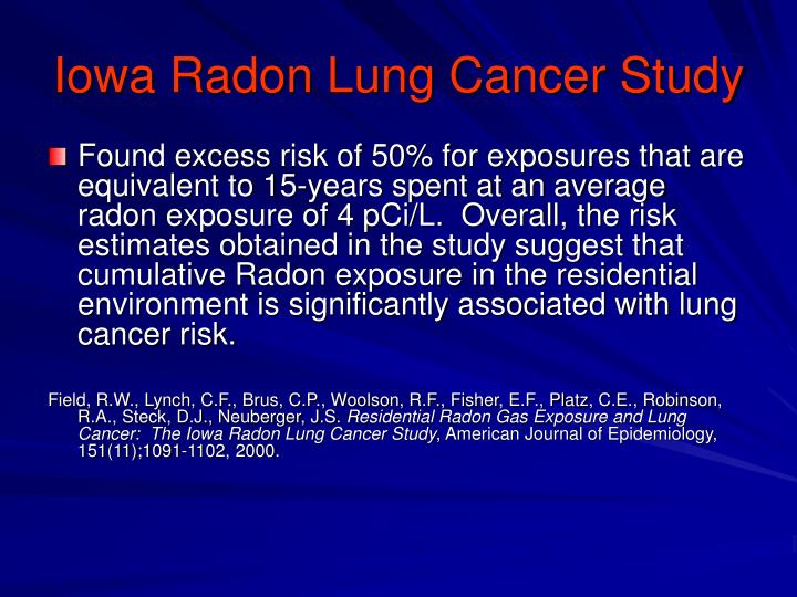 Iowa Radon Lung Cancer Study