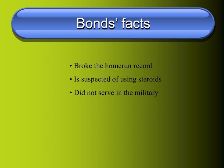 Bonds' facts