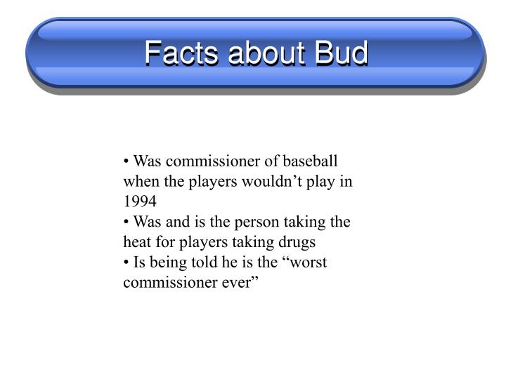 Facts about Bud