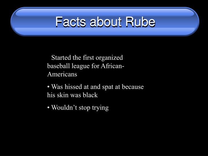 Facts about Rube