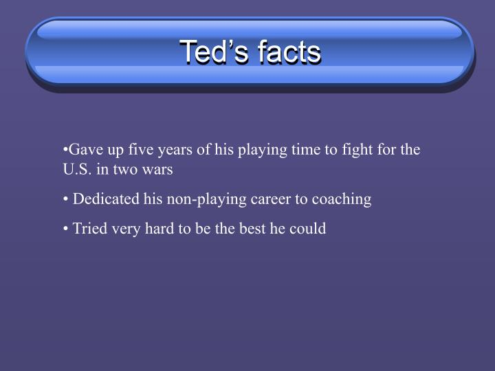 Ted's facts