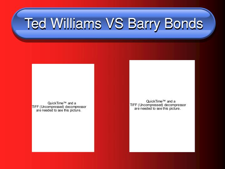 Ted williams vs barry bonds