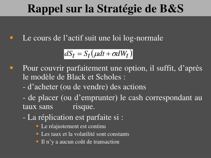 Rappel sur la Stratégie de B&S