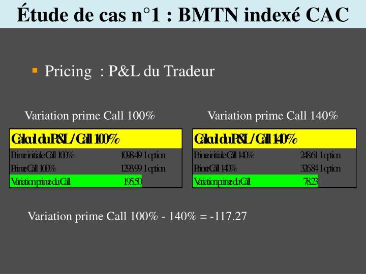 Étude de cas n°1 : BMTN indexé CAC