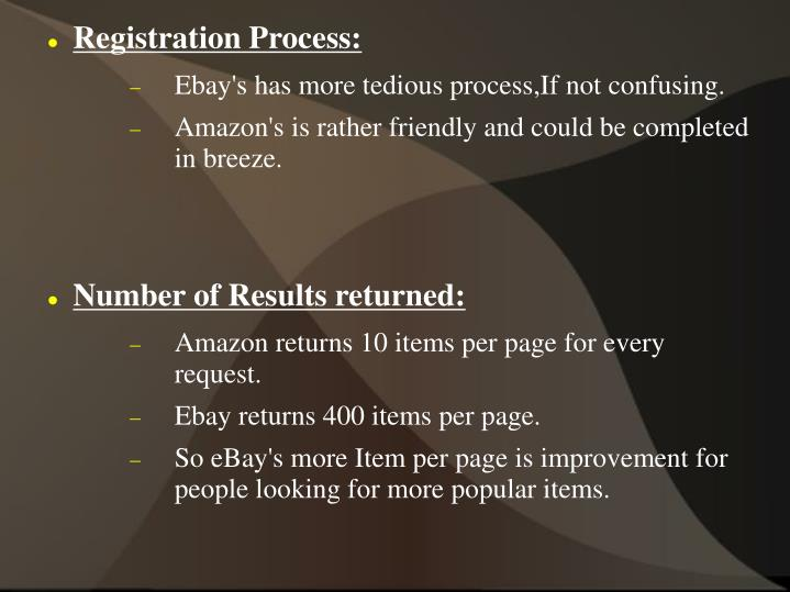 Registration Process: