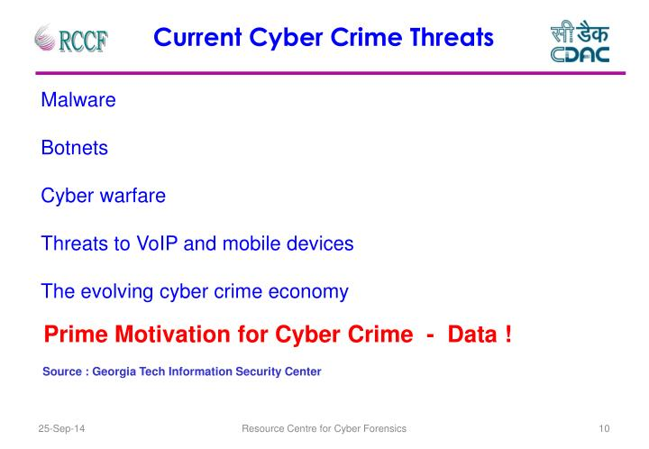 Current Cyber Crime Threats