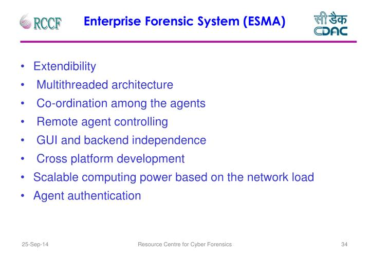 Enterprise Forensic System (ESMA)
