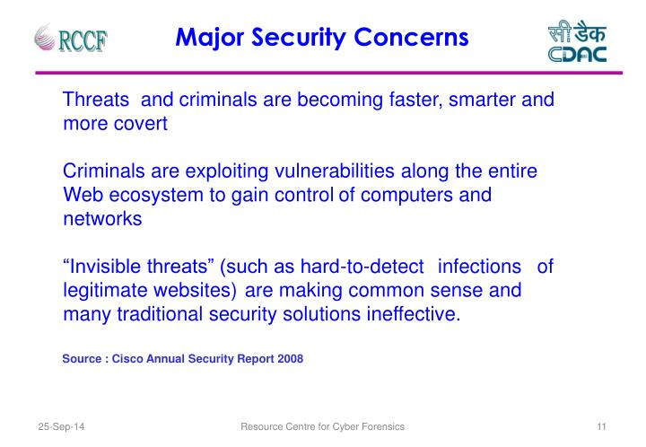 Major Security Concerns