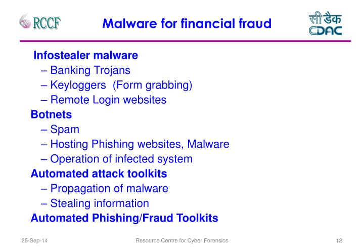 Malware for financial fraud