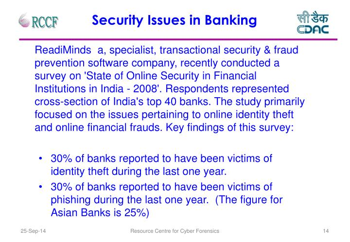 Security Issues in Banking