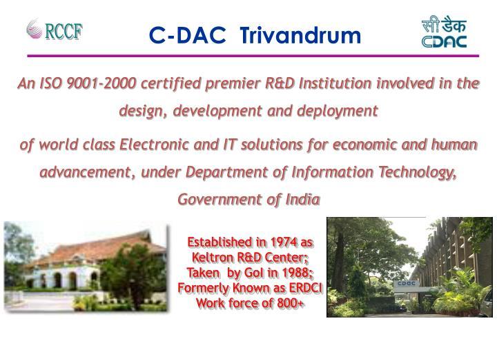 C-DAC  Trivandrum