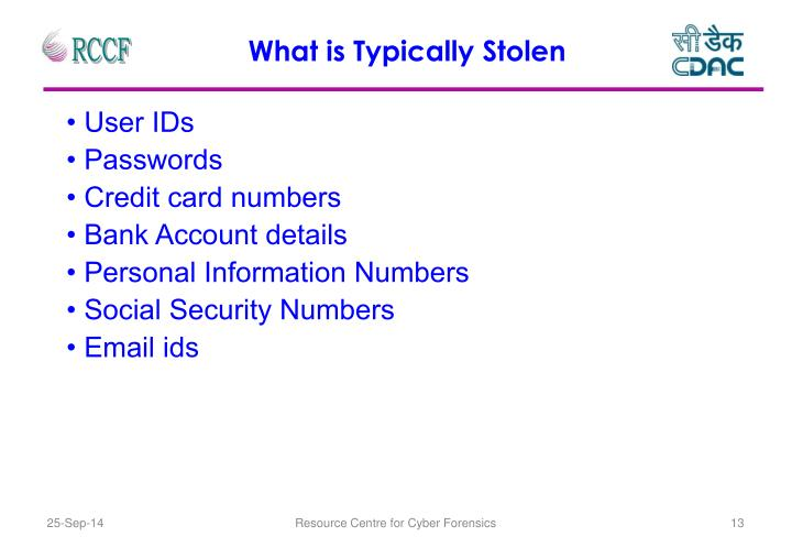 What is Typically Stolen