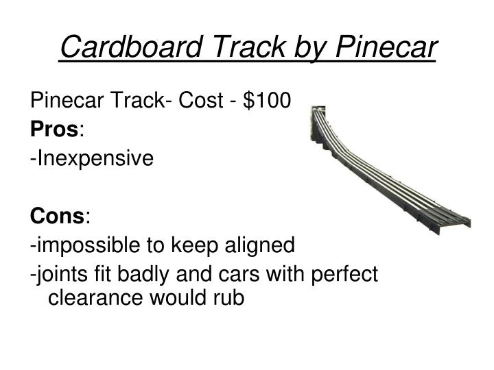 Cardboard Track by Pinecar
