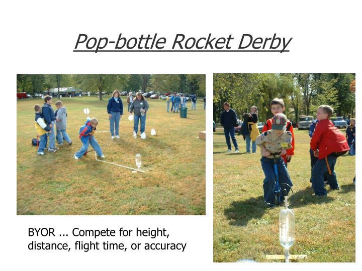 Pop-bottle Rocket Derby