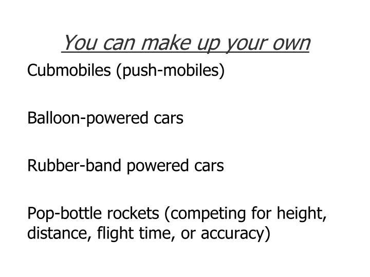 Cubmobiles (push-mobiles)