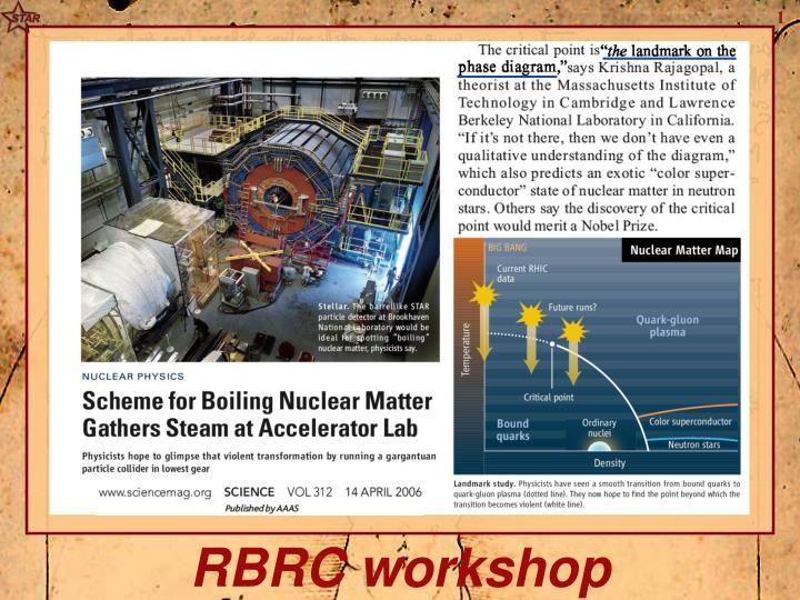 RBRC workshop