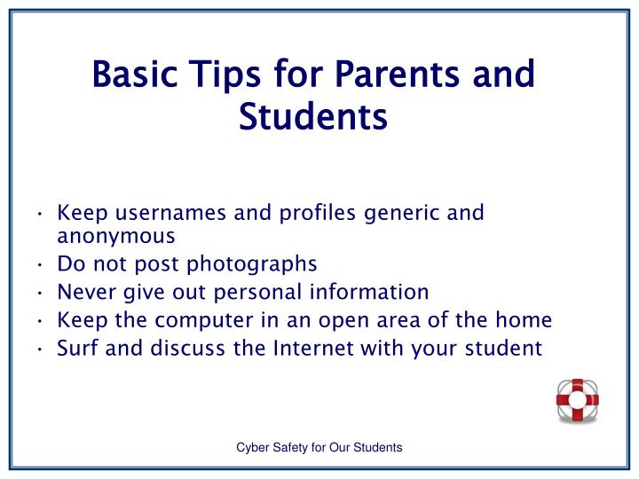 Basic Tips for Parents and Students