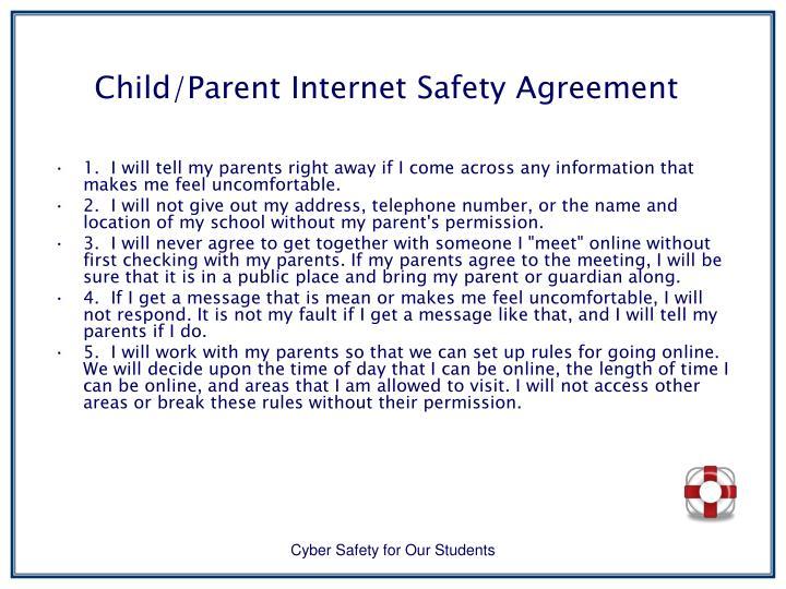 Child/Parent Internet Safety Agreement